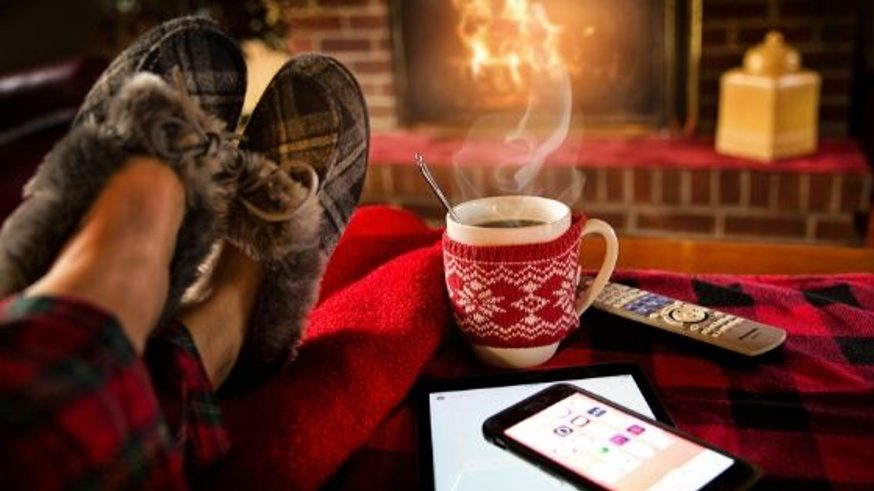 winter proofing your home with hot chocolate, cosy slippers and a fireplace